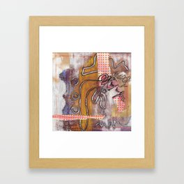All you do is talk and all I do is listen. Framed Art Print