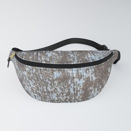 Old baby blue wood Fanny Pack
