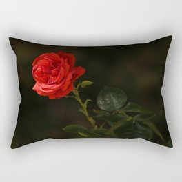 The wild red rose Rectangular Pillow