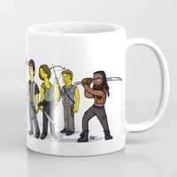 the walking dead Mugs featuring The Walking Dead cast by Adrien ADN Noterdaem