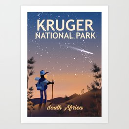 Kruger National Park, south Africa, Art Print