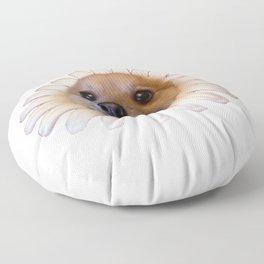 Flower Doggo Floor Pillow