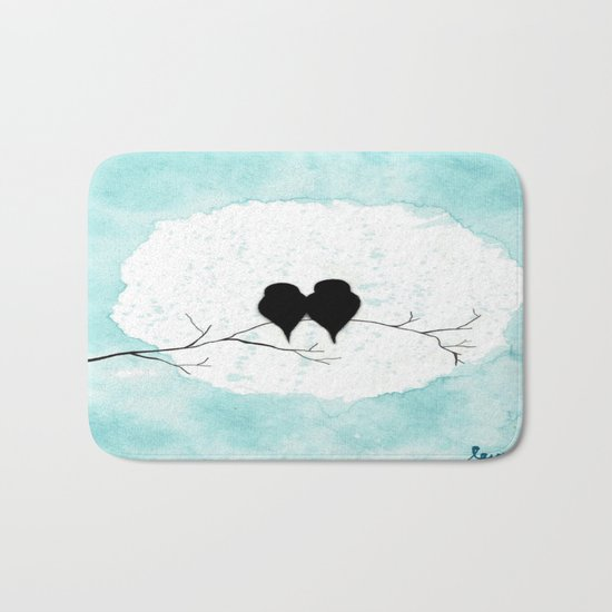 Lovebirds Bath Mat