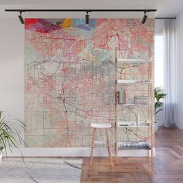 Parma map Ohio painting Wall Mural