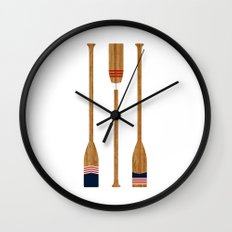 American Painted Oars Wall Clock