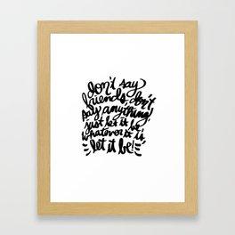 Conversation 83/100 Framed Art Print