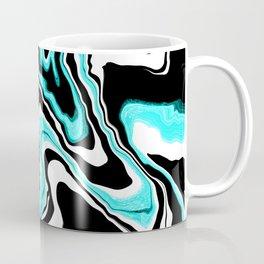 Blue liquified,marble effect decor Coffee Mug