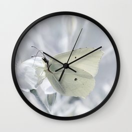 Butterfly White 80 Wall Clock