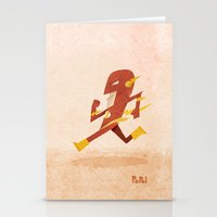 the flash Stationery Cards featuring Flash by Popol