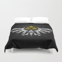 zelda Duvet Covers featuring Zelda Hyrule by Art & Be