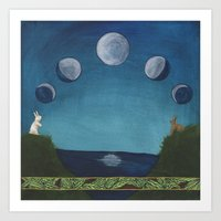 Love under the Moon Art Print