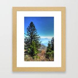 Blue Ridge Mountains North Carolina Framed Art Print