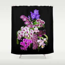 Orchids - Cool colors! Shower Curtain