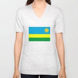 Rwanda country flag Unisex V-Neck