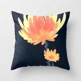 Fire Blossoms Throw Pillow