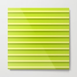Lime Green Stripes Metal Print