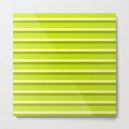 Lime Green Stripes Metal Print