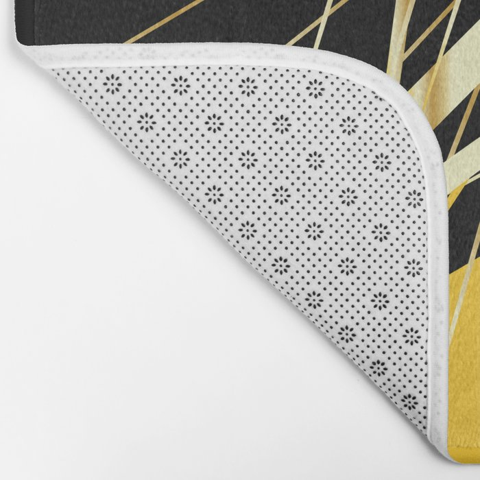 golden treasure abstract geometrical art Bath Mat