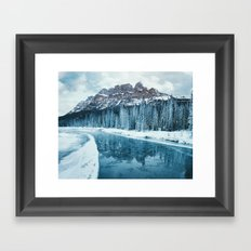 Frosty Morning at Castle Mountain Framed Art Print