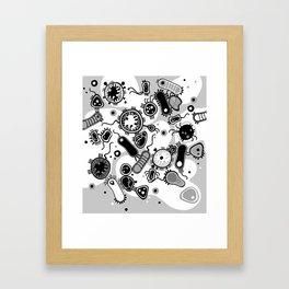 Eukaryote (black and white) Framed Art Print