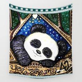 My Sleepy Panda 42 Wall Tapestry