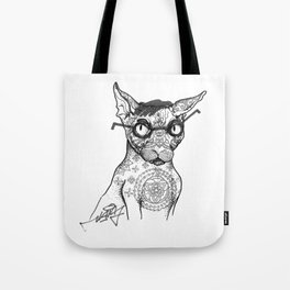 Tattoo cat Tote Bag