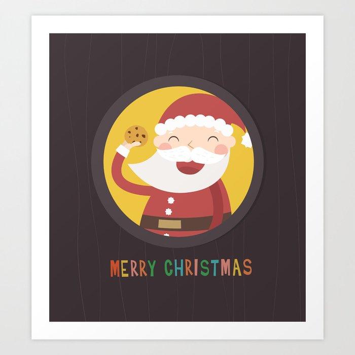 Santa's Cookie Art Print