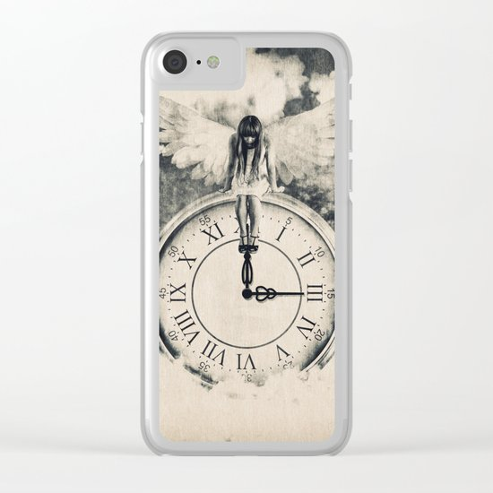 Somewhere In the Clouds Clear iPhone Case