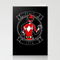 power ranger Stationery Cards featuring Power Crew Red Ranger by zombieCraig by zombieCraig