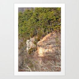 Climbing Up Sparrowhawk Mountain above the Illinois River, No. 3 of 8 Art Print