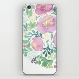 Pink and Green iPhone Skin