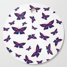 Fly With Pride: Bisexual Flag Butterfly Cutting Board