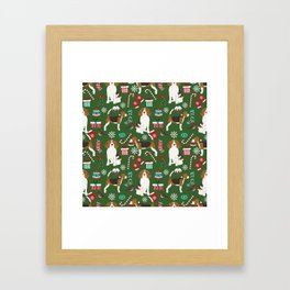 Beagle christmas dog print cute beagle christmas print love beagles Framed Art Print