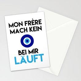 MON FRERE MACH KEIN AUGE BEI MIR LÄUFT Stationery Cards