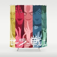 sailor moon Shower Curtains featuring Sailor moon  by Andre!