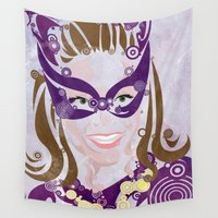 catwoman Wall Tapestries featuring Catwoman 66 by Joshua A. Biron