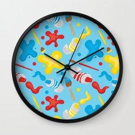 Paint Splatters #2 Wall Clock