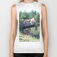 lions Biker Tanks featuring Lions by Art I Am