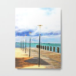 Beautiful abstract ocean view Metal Print