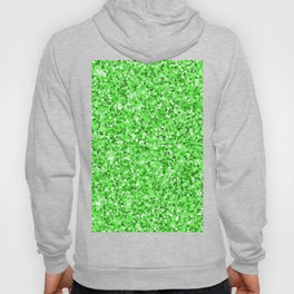Abstract modern neon green glitter Hoody