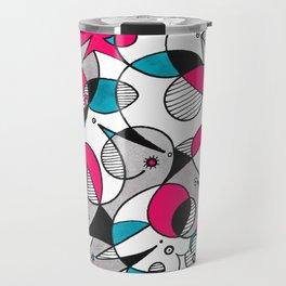 Abstract Birds Travel Mug