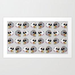 Skulls all Around Art Print