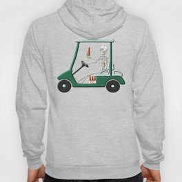 Old Timer Skeleton In Golf Cart Discovers Light Beer graphic Hoody
