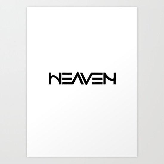 Heaven - Ambigram series Art Print