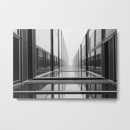 Abstract architecture | Cologne Germany travel photography | Black and white fine art photo print  Metal Print
