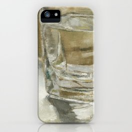Glass of Water Half Full Reflections of Light iPhone Case