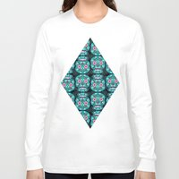 sugar skulls Long Sleeve T-shirts featuring Sugar Skulls Pattern by Spooky Dooky