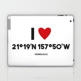 I LOVE HONOLULU Laptop & iPad Skin