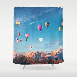 Balloon fiesta II Shower Curtain