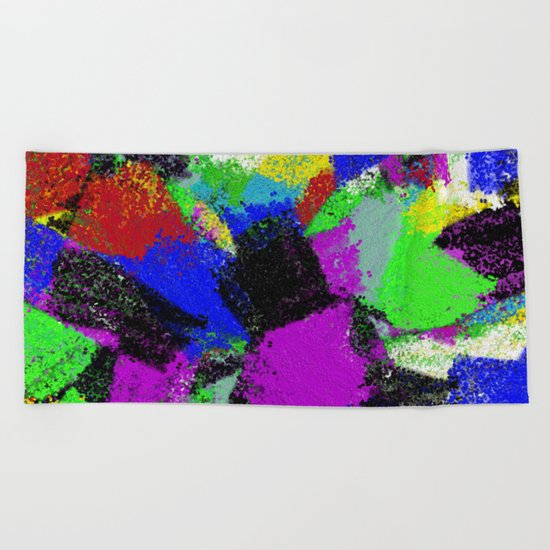 Paint To Feel Better Beach Towel